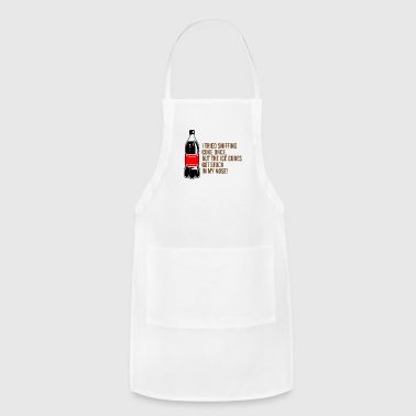 I Tried Sniffing Coke,But I Got Ice Cubes Instead! - Adjustable Apron
