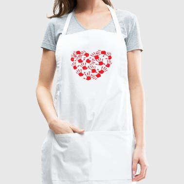 Handprint Heart - Adjustable Apron
