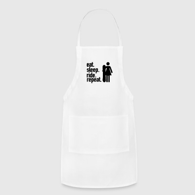 EAT. SLEEP. RIDE. REPEAT. - Adjustable Apron