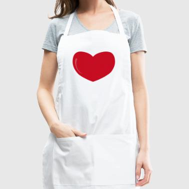 heart-valentines day-love - Adjustable Apron
