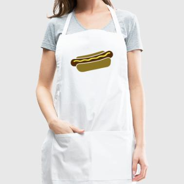 hot dog with mustard - Adjustable Apron
