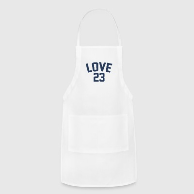 Love - Jersey Design (Navy Blue Letters) - Adjustable Apron