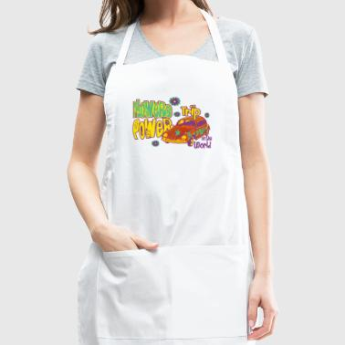 FLOWERS POWER trip - Adjustable Apron