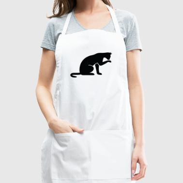 A Cat Licking Its Paw - Adjustable Apron