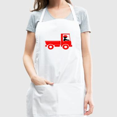 A Pickup Truck Drives To A Warehouse - Adjustable Apron