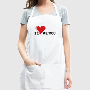 I LOVE YOU - Romance - Valentine's Day - Heart - Adjustable Apron