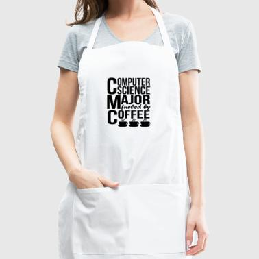 Computer Science Major Fueled By Coffee - Adjustable Apron