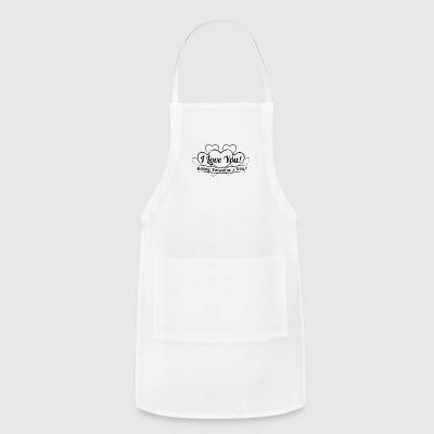 vintage-heart-Happy-Valentines Day-i love you - Adjustable Apron
