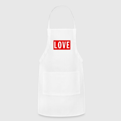 Love (Big/Red Border) - Adjustable Apron
