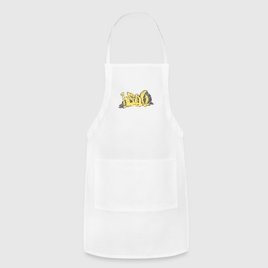 head_graffiti_hand_drawn_back - Adjustable Apron