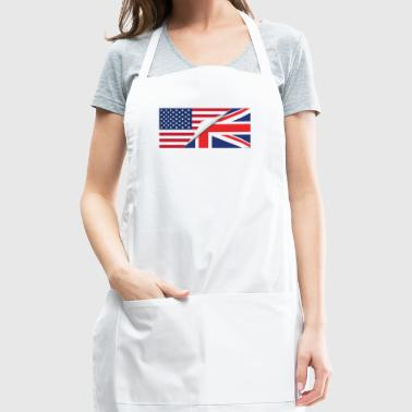 Half American Half British Flag - Adjustable Apron