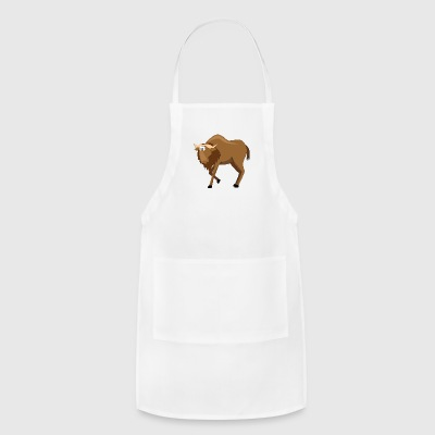 Cartoon Buffalo - Adjustable Apron