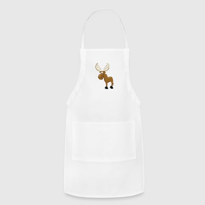 Cartoon Moose - Adjustable Apron