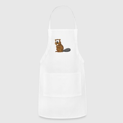 Cartoon Beaver - Adjustable Apron