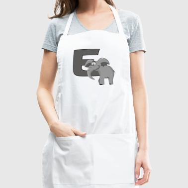 E Is For Elephant - Adjustable Apron