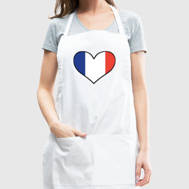 French Flag Heart - Adjustable Apron