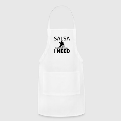 Salsa is my therapy - Adjustable Apron