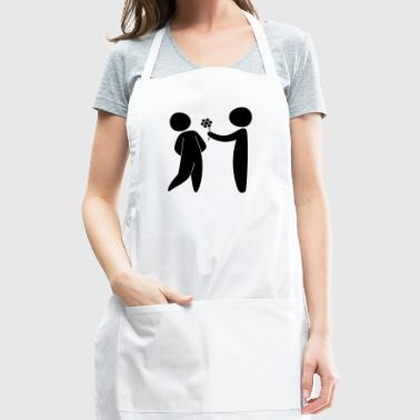 Valentine's Day Couple - Adjustable Apron