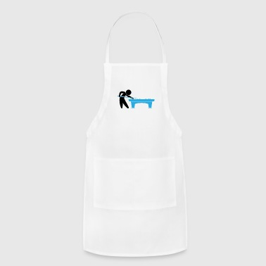 A Pool Player Is On The Pool Table - Adjustable Apron