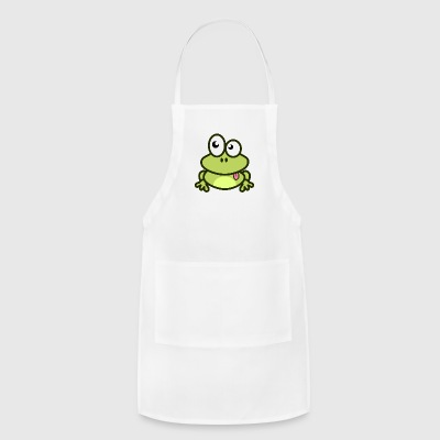Funny green Frog with eyes - Adjustable Apron