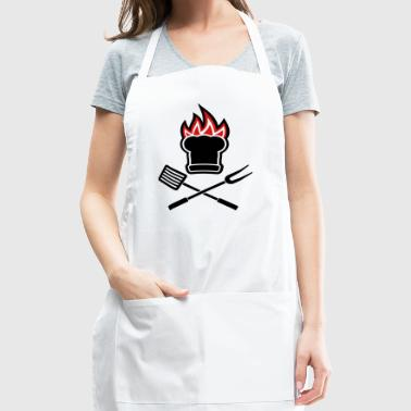 Barbecue on fire - Adjustable Apron