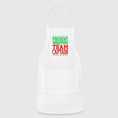 Present Wrapping Team Captain Christmas - Adjustable Apron