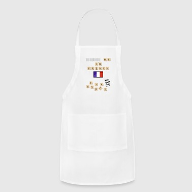 Scrabble me I'm French - Black version - Adjustable Apron