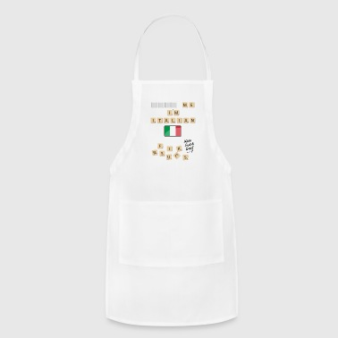 Scrabble me I'm Italian - Black version - Adjustable Apron
