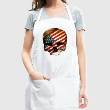 skull / skull american / skull usa - Adjustable Apron