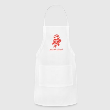 Lick Or Suck Christmas Candy Cane - Adjustable Apron