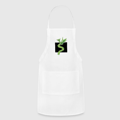 Leafy Bamboo Shoot Illustration Design - Adjustable Apron