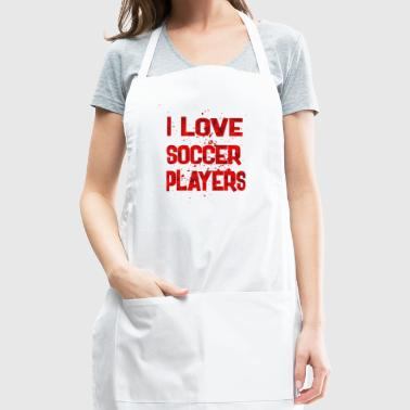 I love Soccer Players - Adjustable Apron
