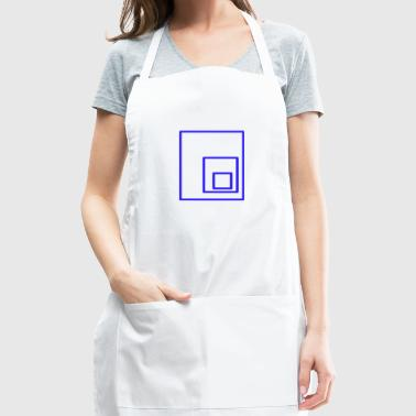 blue rectangles - Adjustable Apron