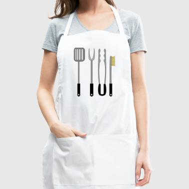Barbeque BBQ Fork Cutlery Flatware Silver Gift - Adjustable Apron