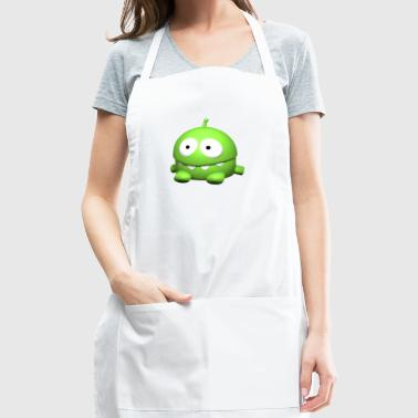 Monster, sitting, cute, cartoon, bright green - Adjustable Apron