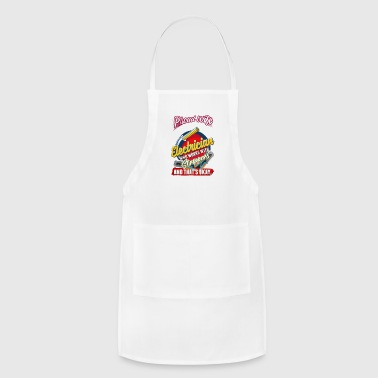 Proud Wife Of An Electrician Shirt - Adjustable Apron