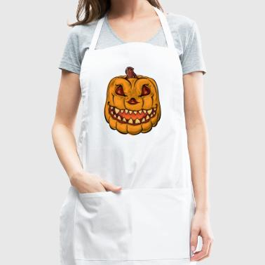 angry pumpkin - Adjustable Apron