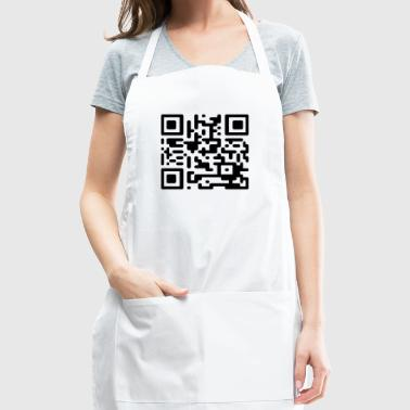 QR Codes are Dumb - Black - Adjustable Apron