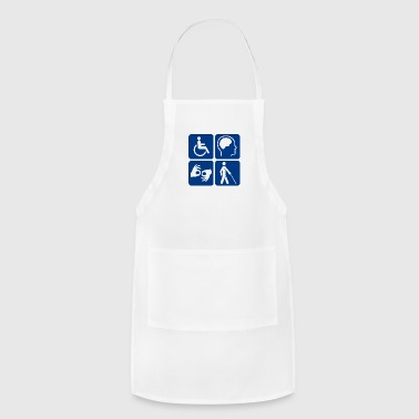 Disability symbols 16 vectorized - Adjustable Apron