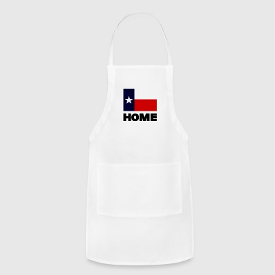TEXAS FLAG HOME BLACK - Adjustable Apron