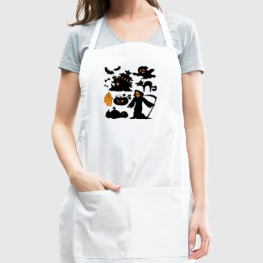 Set Of Halloween - Adjustable Apron