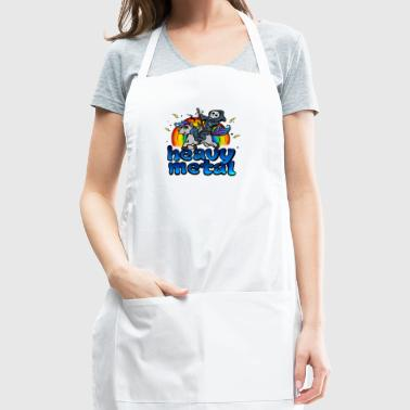 Death Metal Pony Rainbow T-Shirt - Heavy Metal Tee - Adjustable Apron