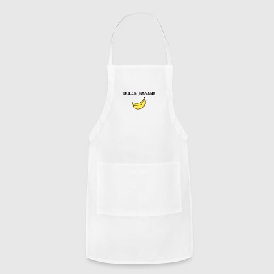 dolce and banana art satire fashion sign parodie - Adjustable Apron