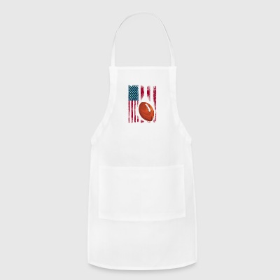 football american flag sport team club ball - Adjustable Apron