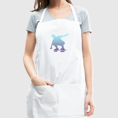 Skater Shape Lines Duotone Design - Adjustable Apron