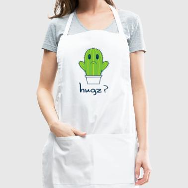 Hugz Cactus Funny Men's T-shirt - Adjustable Apron