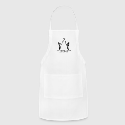 I Crossed The Streams And Survived - Adjustable Apron