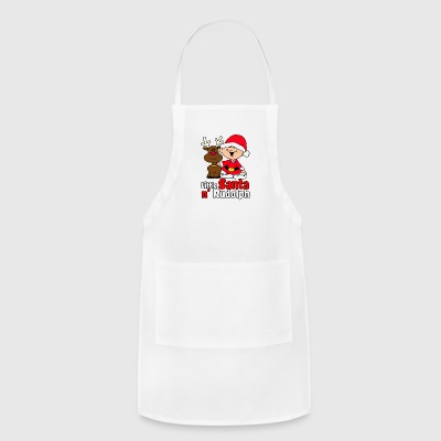 Little Santa N Rudolph funny tshirt - Adjustable Apron