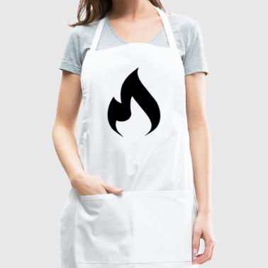rock hard rebellion flame - Adjustable Apron