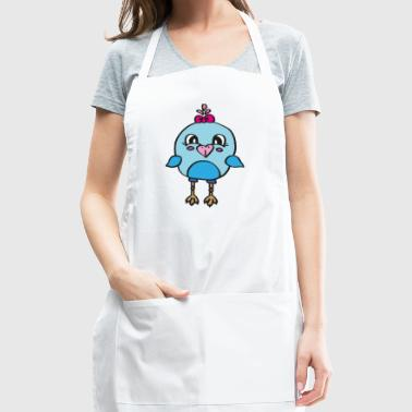 sweet chick with tiny wings , great gift idea - Adjustable Apron